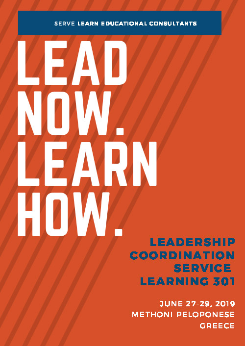Serve Learn - Lead Now June 2019 Poster