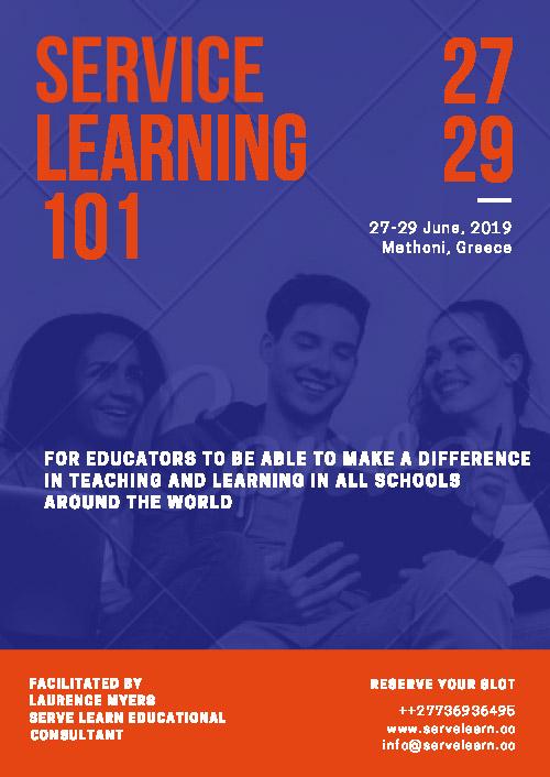 Serve Learn Serve Learning 101 June 2019 Poster